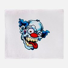 Crazy Clown Throw Blanket