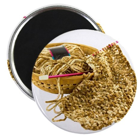 """Hand Knit Chenille Yarn 2.25"""" Magnet (100 pack)"""