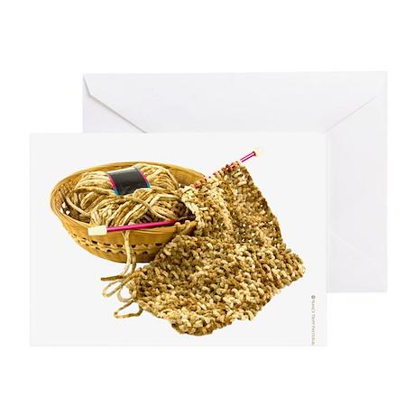 Hand Knit Chenille Yarn Greeting Card
