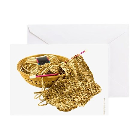 Hand Knit Chenille Yarn Greeting Cards (Pk of 10)
