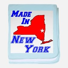 Made In New York baby blanket