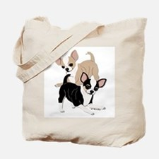 Chihuahua Smooth Coats at Play Tote Bag