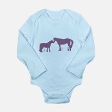 Horse Kisses Long Sleeve Infant Bodysuit