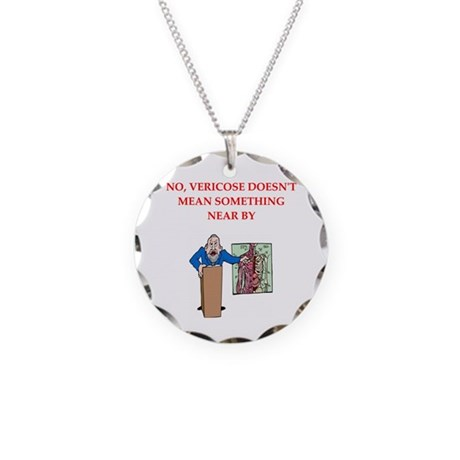 Medical School Necklace Circle Charm