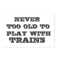play with trains Postcards (Package of 8)