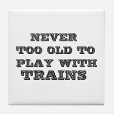 play with trains Tile Coaster
