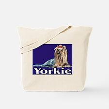 Urban Yorkie Blue Tote Bag