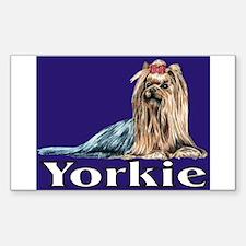 Urban Yorkie Blue Sticker (Rectangle)