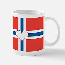 norwegian flag heart Mug