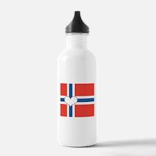 norwegian flag heart Water Bottle
