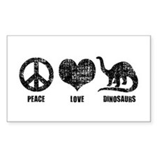 Peace Love Dinosaurs Decal