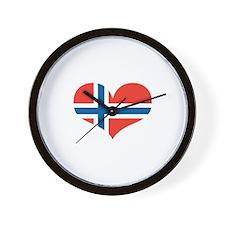 norway's heart Wall Clock