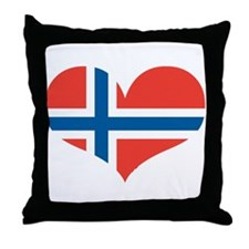norway's heart Throw Pillow