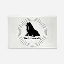 Weirdnessity Logo Rectangle Magnet