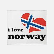 i love norway Throw Blanket