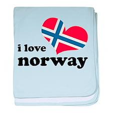 i love norway baby blanket
