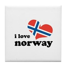 i love norway Tile Coaster