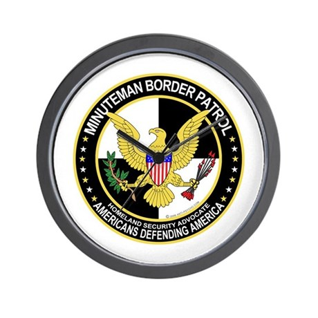 Political Minuteman Border Pa Wall Clock