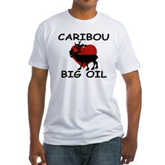 Caribou Love Big Oil Fitted T-Shirt