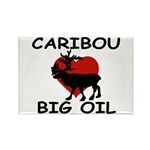 Caribou Love Big Oil Rectangle Magnet
