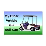 Golf cart 22x14 Wall Peel