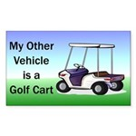 Golf cart Sticker (Rectangle 50 pk)