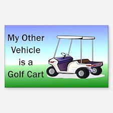Golf cart Sticker (Rectangle)