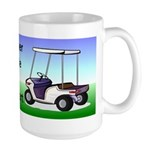Golf cart Large Mug