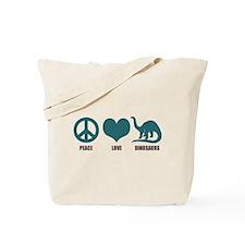 Peace Love Dinosaurs Tote Bag