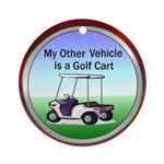 Golf cart Ornament (Round)