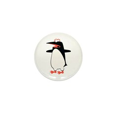Loony Penguin 2 Mini Button (100 pack)