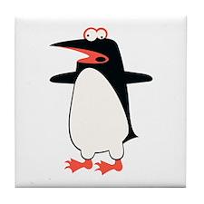 Loony Penguin 2 Tile Coaster