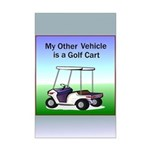 Golf cart Mini Poster Print