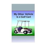 Golf cart Sticker (Rectangle)