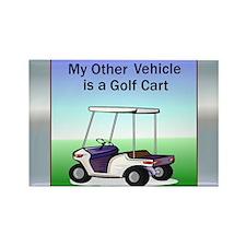 Golf cart Rectangle Magnet (10 pack)