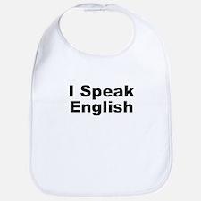 I Speak English Bib