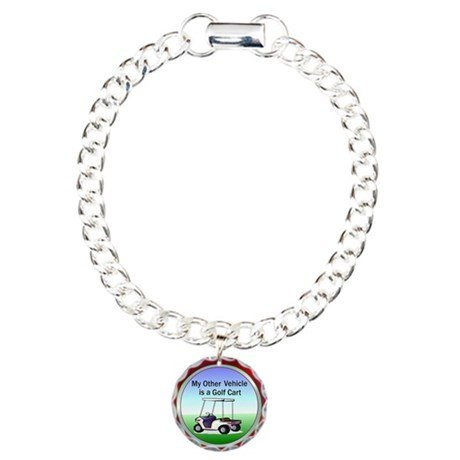 Golf cart Charm Bracelet, One Charm