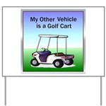 Golf cart Yard Sign
