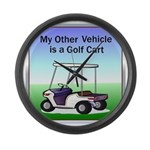 Golf cart Large Wall Clock