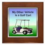 Golf cart Framed Tile