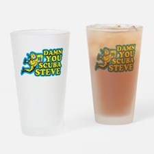 Damn You Scuba Steve Drinking Glass