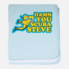 Damn You Scuba Steve baby blanket