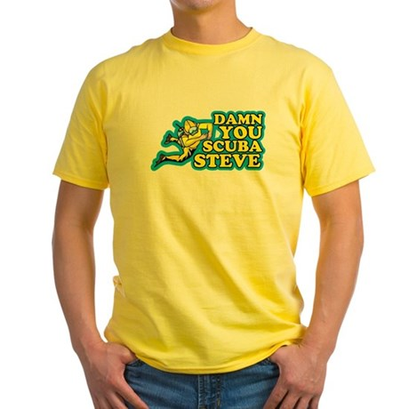 Damn You Scuba Steve Yellow T-Shirt