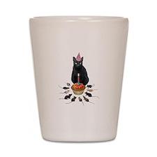 Black Cat Birthday Rats Shot Glass