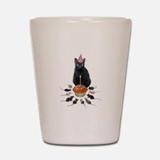 Black Cat Birthday Rats Shot Glass