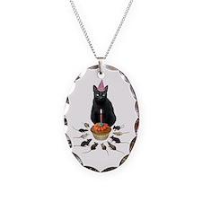 Black Cat Birthday Rats Necklace