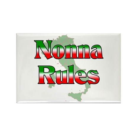 Nonna Rules Rectangle Magnet