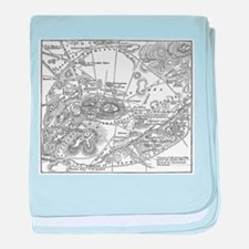 Athens Map 1 baby blanket