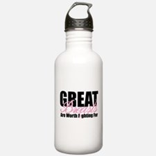 Great Breasts Are Worth Fight Water Bottle