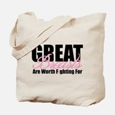 Great Breasts Are Worth Fight Tote Bag